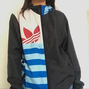 Adidas Colorful Windbreaker with Pockets